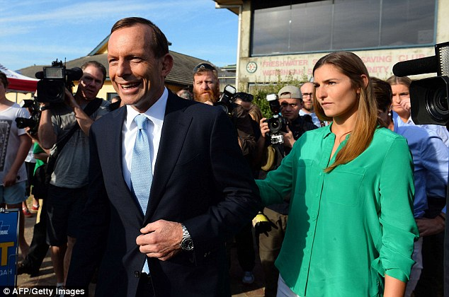 An early exit poll showing Tony Abbott's Liberal Party-led coalition is on its way to a sweeping victory against Kevin Rudd's Labor Party