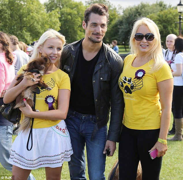 The model was acting as a judge at the event alongside presenter, Gail Porter, on Saturday