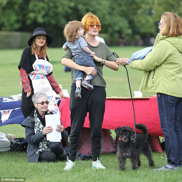 Mary Portas also attended the event with a cute pooch in tow