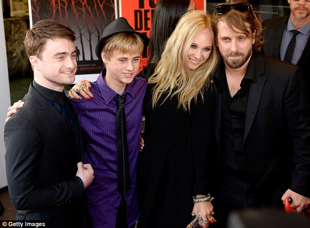Daniel Radcliffe with Mitchell Kummen, Juno Temple and director, Alexandre Aja