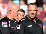 End of the road: Greg Abbott has been sacked by Carlisle and assistant manager Graham Kavanagh takes temporary charge