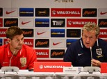 Up for the cup: Hodgson and Gerrard are braced for a crunch clash with Ukraine in Kiev on Tuesday night