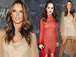 Fashion faux pas! Taryn Manning doesn't stand a chance against supermodel Alessandra Ambrosio as the pair attend Fashion Week party in identical dresses