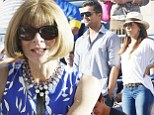 Anna Wintour breaks from NYFW to watch Women's final at the US Open... as Eva Longoria cheers with pal Ricky Martin