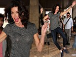 Wishing it was still you? Former model Janice Dickinson tries to ensure all eyes are on her at Fashion Week dancing and posing in the streets