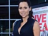 Toned: Minnie Driver's upper arms are the sort more often seen on athletes