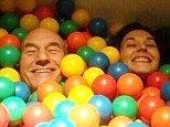'Yes, married': Sir Patrick Stewart tweets hilarious photo in ball pit as he announces he's wed Sunny Ozell.. as Gandalf officiates!