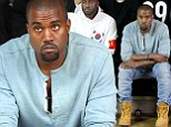 I'm here on business: Kanye West attends runway show at New York Fashion Week for label he is rumoured to be teaming up with