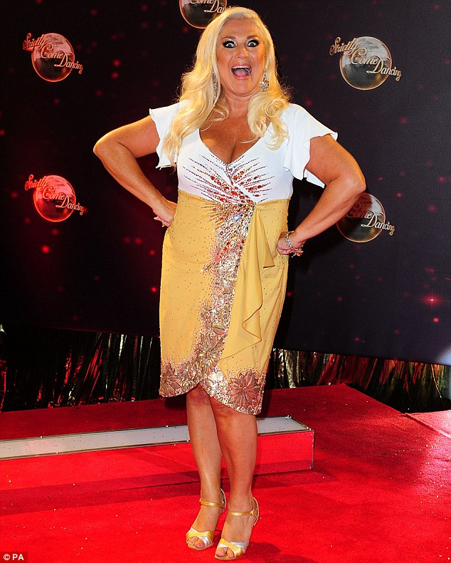 Ready for action! James is partnered alongside Vanessa Feltz for this year's show