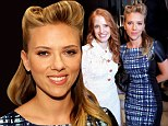 What a professional! Scarlett Johansson keeps her giant engagement ring under wraps as she poses with Jessica Chastain in Toronto
