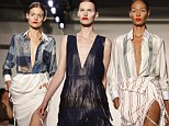 The Altuzarra Spring 2014 collection is modeled during Fashion Week, Saturday, Sept. 7, 2013, in New York. (AP Photo/Jason DeCrow)