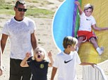 Gwen missed out! Gavin Rossdale is the Sunday Funday master as he treats their sons to an adventuresome day out