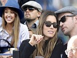 Cuddling up courtside! Jessica Biel and Justin Timberlake attend US Open Final alongside A-list stars Jessica Alba and Leonardo DiCaprio