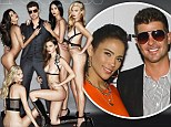 'She said go the whole way!': Robin Thicke says his wife Paula Patton urged him to pose on the front cover of Treats! magazine with five completely nude models