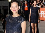 Ooh la la! Marion Cotillard reveals her lingerie in racy lace dress at Toronto Film Festival premiere of Blood Ties