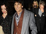 RONNIE WOOD AND ROD STEWART ARRIVING AT ARTS CLUB IN LONDON WITH WIFES TO HAVE DINNER TOGETHER
