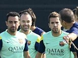 Suspicious: Barcelona's training ground has had three fires in a couple of weeks
