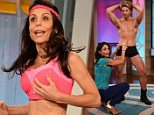 Flat tummy: Skinnygirls mogul Bethenny Frankel showed off her slim physique during a segment airing on Tuesday on her new show