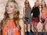 Dressed to impress: Paris Hilton wears houndstooth for NYFW date with Nicky and changes into orange dress for runway show