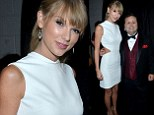 Musicians Taylor Swift (L) and Paul Potts at the