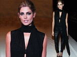 The lady is a vamp: Twilight star Ashley Greene dons edgy leather outfit for KaufmanFranco show at NYFW