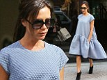 Fashion designer Victoria Beckham out and about in New York City,