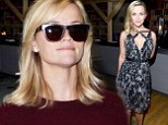 Reese Witherspoon looking lovely in red sweater at LAX.