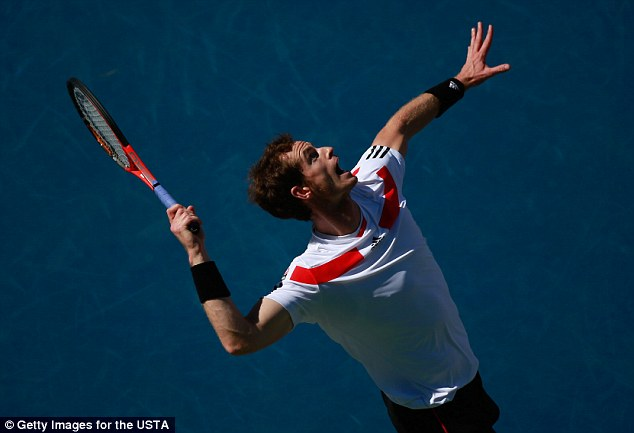 Going out: Andy Murray reached the quarter-finals but his run stopped there