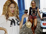 Beyonce on her vacation with Blue Ivy and Jay Z