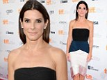 Houston, we have a winner! Sandra Bullock is breathtaking in a boldly patterned strapless dress to attend Gravity premiere