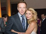 Reunited: Claire Danes and Damian Lewis posed up together at a special screening of the season three premiere of Homeland in Washington D.C. on Monday night