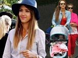 Sptember 9, 2013: Jessica Alba with her friends and daughter Haven to the Central Park Zoo in New York today..