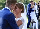 Made In Chelsea star Millie Mackintosh and her rapper husband Professor Green after getting married at Babington House