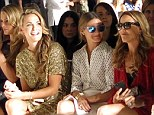 Best seats in the house: Petra, Molly, Olivia Palermo, Sheryl and Courtney made up the star-studded front row