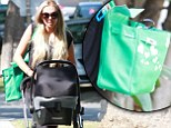 Not your average baby bag! Petra Ecclestone keeps her baby daughter Lavinia's nappies in a £10,000 Birkin