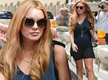 Keeping up the good work! Glowing Lindsay Lohan is brimming with health as she shows off her new curves in a chic silky slip