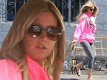 Newly engaged: Ashley Tisdale had a little spring in her step on Tuesday while out and about in Los Angeles