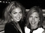Like mother, like daughter: Kate Upton uploaded a photo of herself hugging her 'beautiful mom', Shelley yesterday - it shows them at the 10th Annual Style Awards last week
