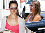 Long legs: Alessandra Ambrosio grabbed a healthy drink on Wednesday after a yoga class in Los Angeles and also enjoyed a ride in a classic convertible