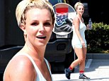 Miley's got sex appeal... but I've got socks appeal! Britney Spears steps in funny footwear ahead of duet with Miss Cyrus