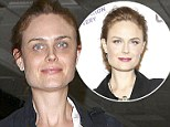 Time for a nap! A make-up free Emily Deschanel appears tired as jets home after looking glamorous made-up on the red carpet the night before