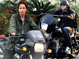 They're well-suited! Fifty Shades Of Grey co-stars Dakota Johnson and Charlie Hunnam both zoom around on motorbikes as they get to work on their respective sets