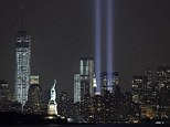 Tribute In Light: Two beams were lit on Tuesday in preparation for today's anniversary