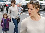Jennifer Garner bonds with little Seraphina and baby Samuel on a shopping errand... as she takes a break from filming