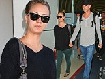 Love, set, match: Kaley Cuoco and her new tennis beau Ryan Sweeting head back to Los Angeles after the US Open finals