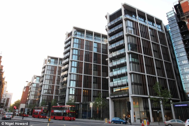 Empty homes: Only two-thirds of London property buyers intend to live and work in London, which has led to hundreds of unoccupied properties, One Hyde Park, pictured, is among them