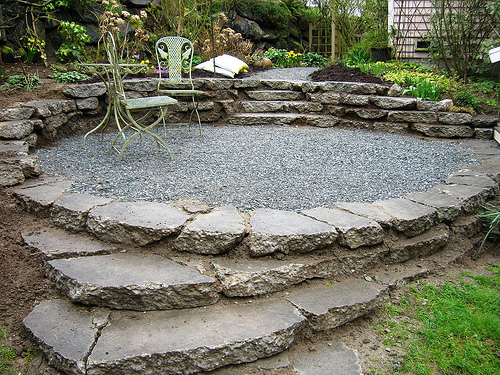 Recycled Terrace from our Garden Rubble by brewbooks, on Flickr