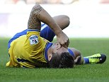 I'm ok: There were fears that the injury Olivier Giroud picked up at Sunderland would sideline him