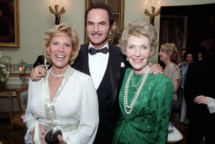 Dinah Shore, born 1916, Burt Reynolds, born 1936, and Nancy Reagan, born 1921