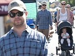 Getting back to normal: Jack Osbourne enjoys family day at the Farmer's Market on eve of Dancing With The Stars premiere